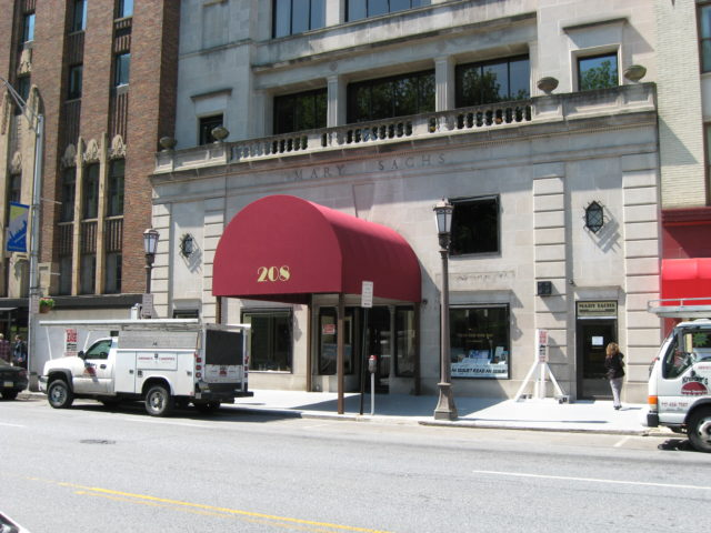 Awning on Mary Sachs building