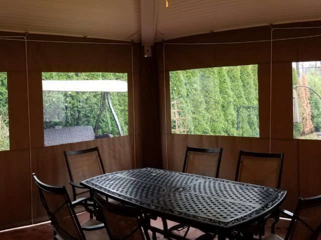 Drop curtain enclosure for your porch