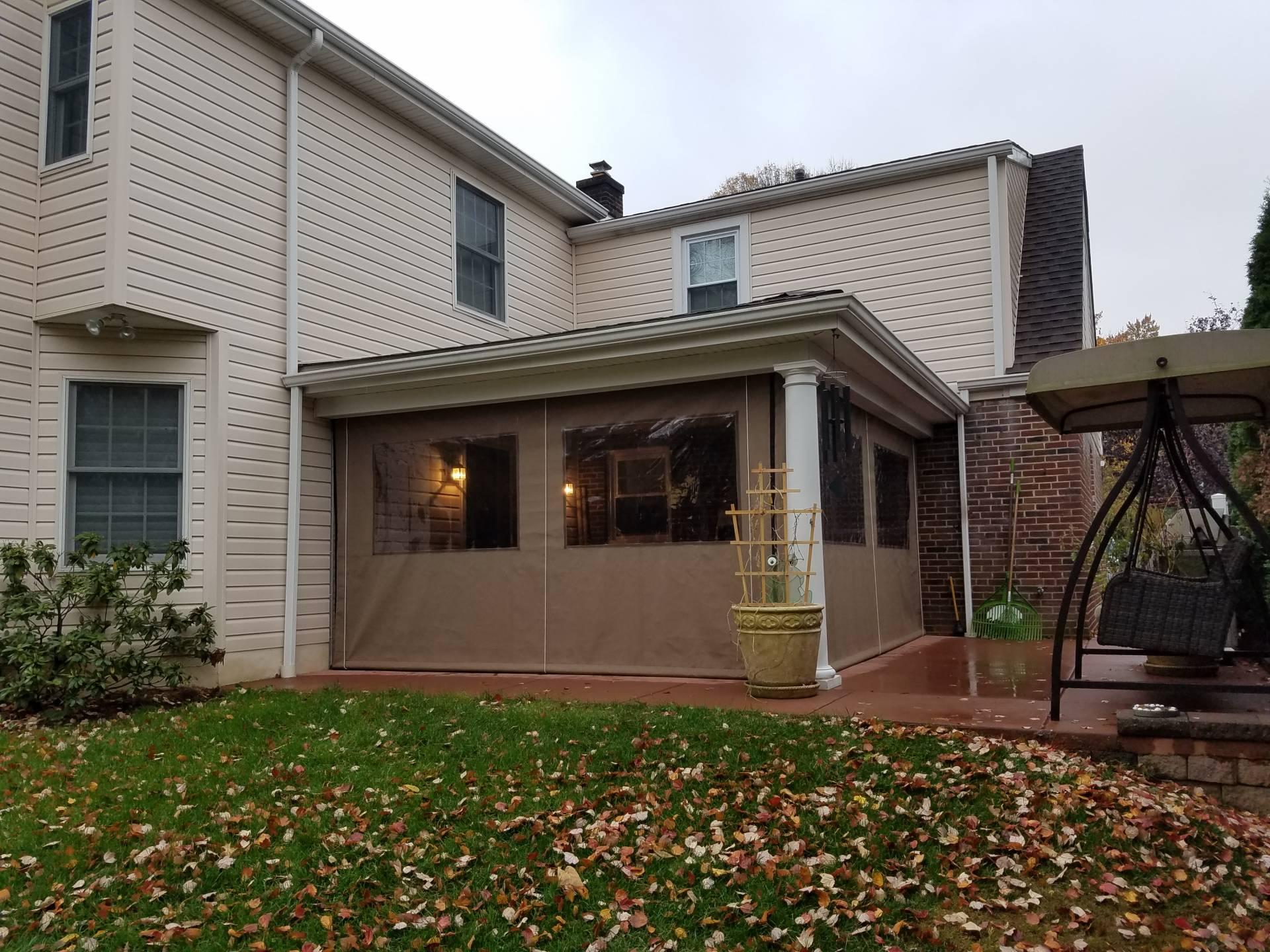 Residential Porch Enclosure Clear Vinyl Kreider S