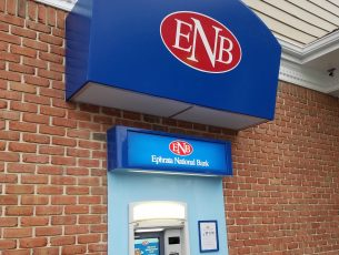 ENB Bank in Morgantown - awning over ATM machine
