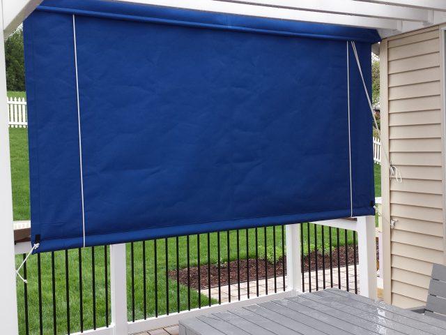Drop Curtain Installed On A Pergola Kreider S Canvas