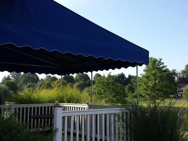 Sunbrella fabric deck awning