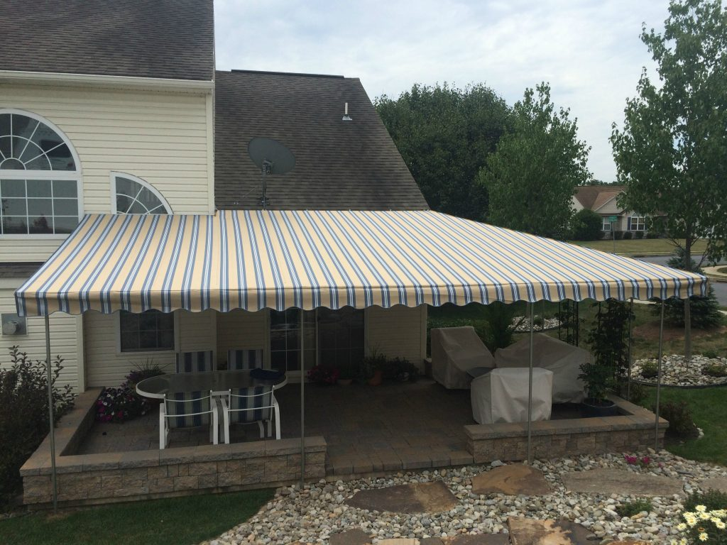 Extended Canopy Over A Patio Kreider S Canvas Service Inc