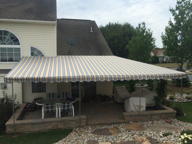 Sunbrella fabric stationary canopy