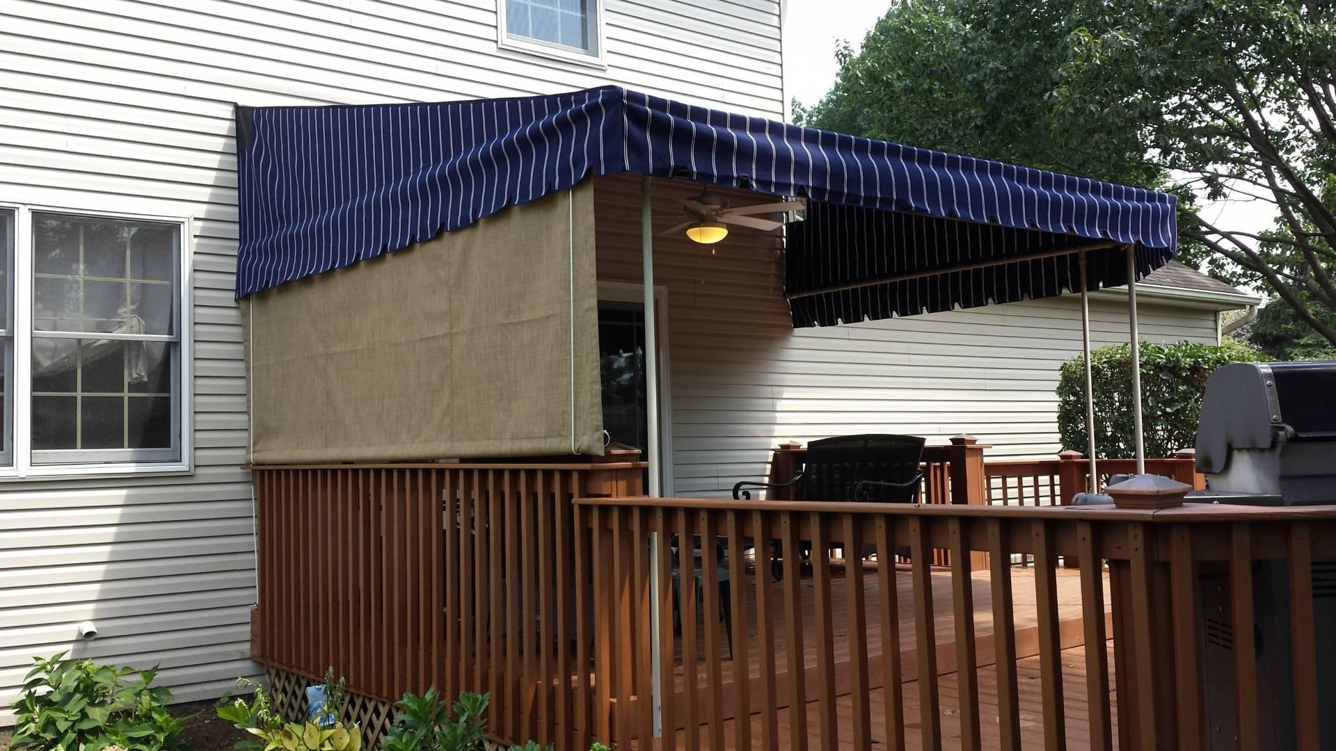 Mesh Drop Curtain Installed On A Canopy Kreider S Canvas