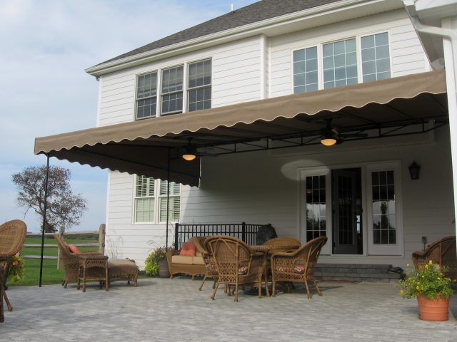 Patio shade and rain protection