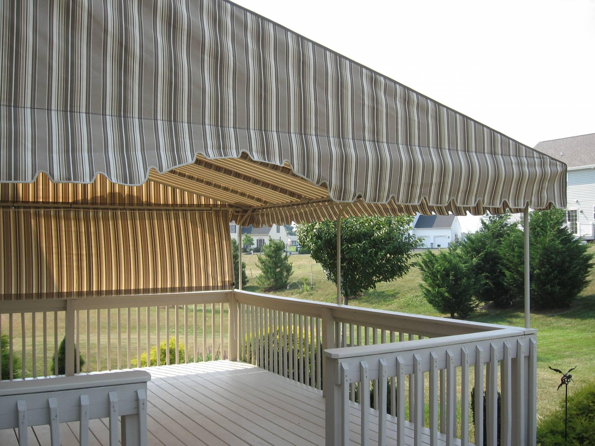 Stationary Deck Canopy With A Walk Though Cutout Kreider
