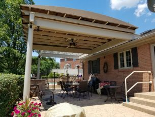 Fabric pergola shade cover