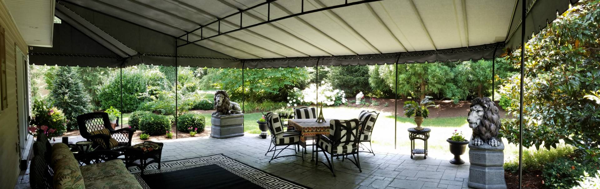 Rounded Front Edge Stationary Patio Canopy Kreider S