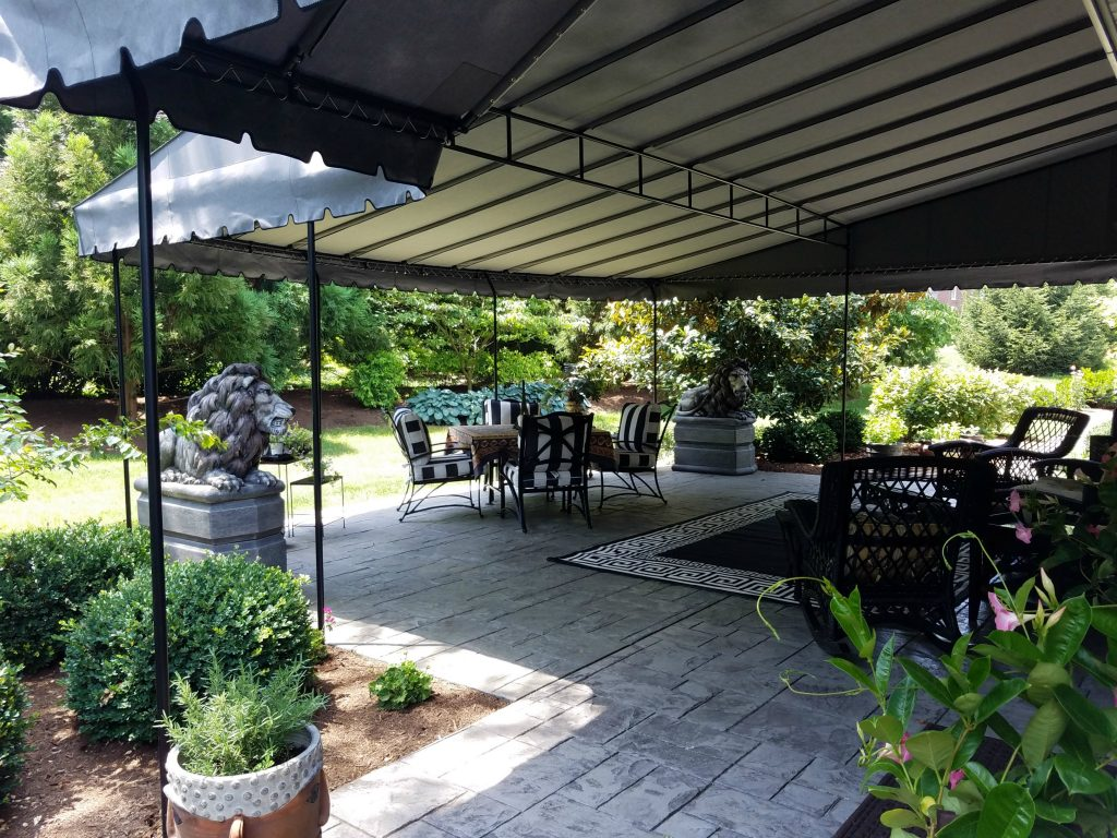 Rounded front edge - Stationary patio canopy | Kreider's ...