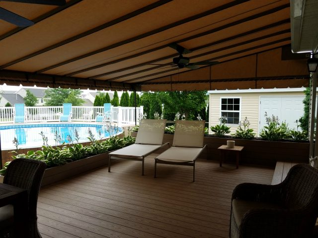 Beautiful Beige Canopy By The Pool Kreider S Canvas