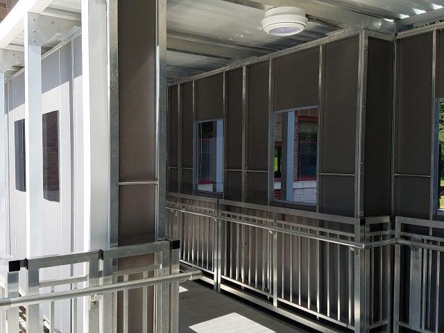 Walkway Enclosure Panels Kreider S Canvas Service Inc