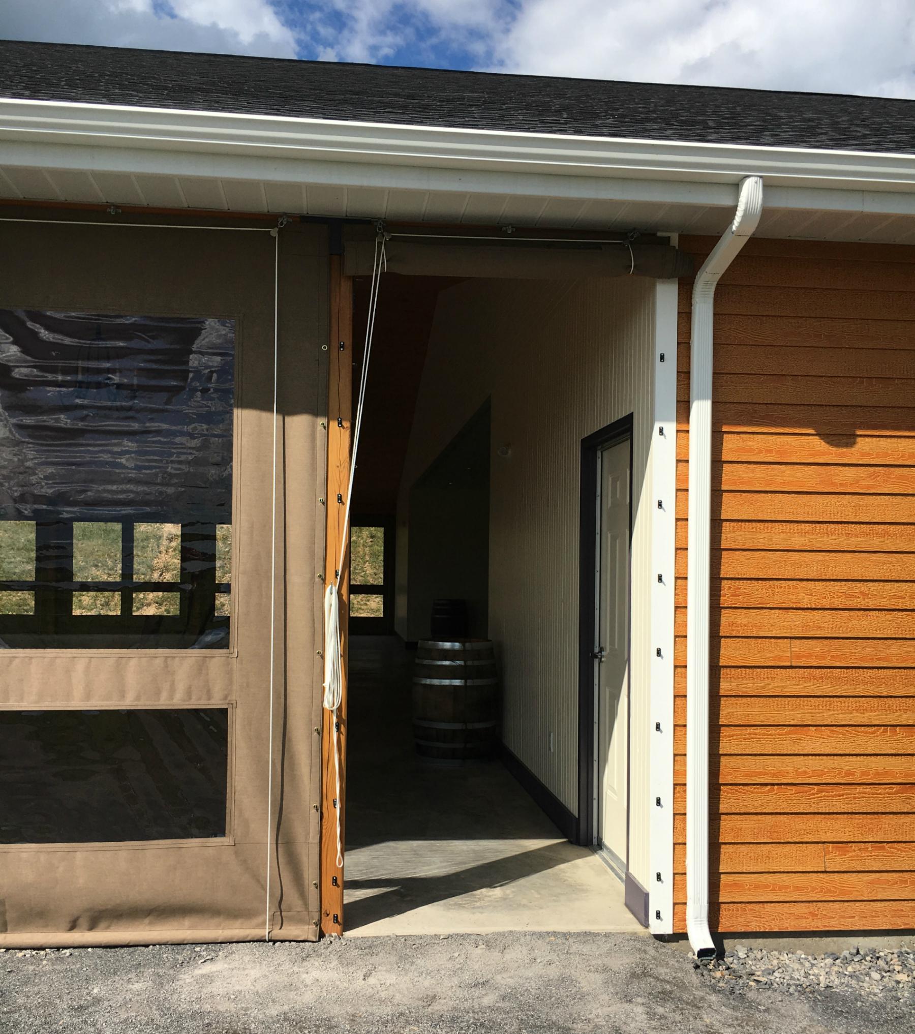 View · Fero ... & Vineyard wedding venue enclosure | Kreider\u0027s Canvas Service Inc.