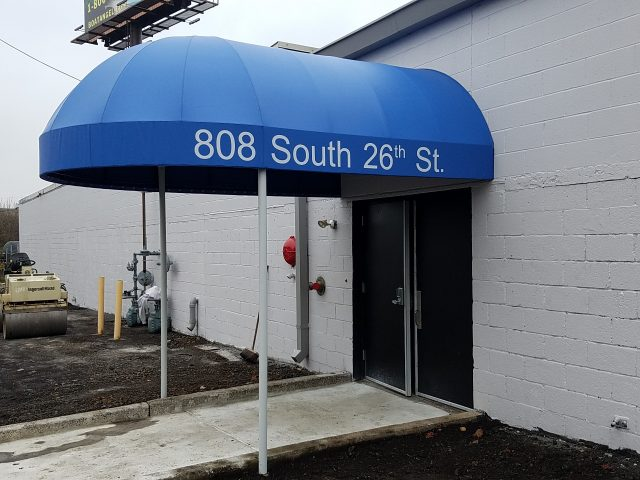 Commercial entrance awning