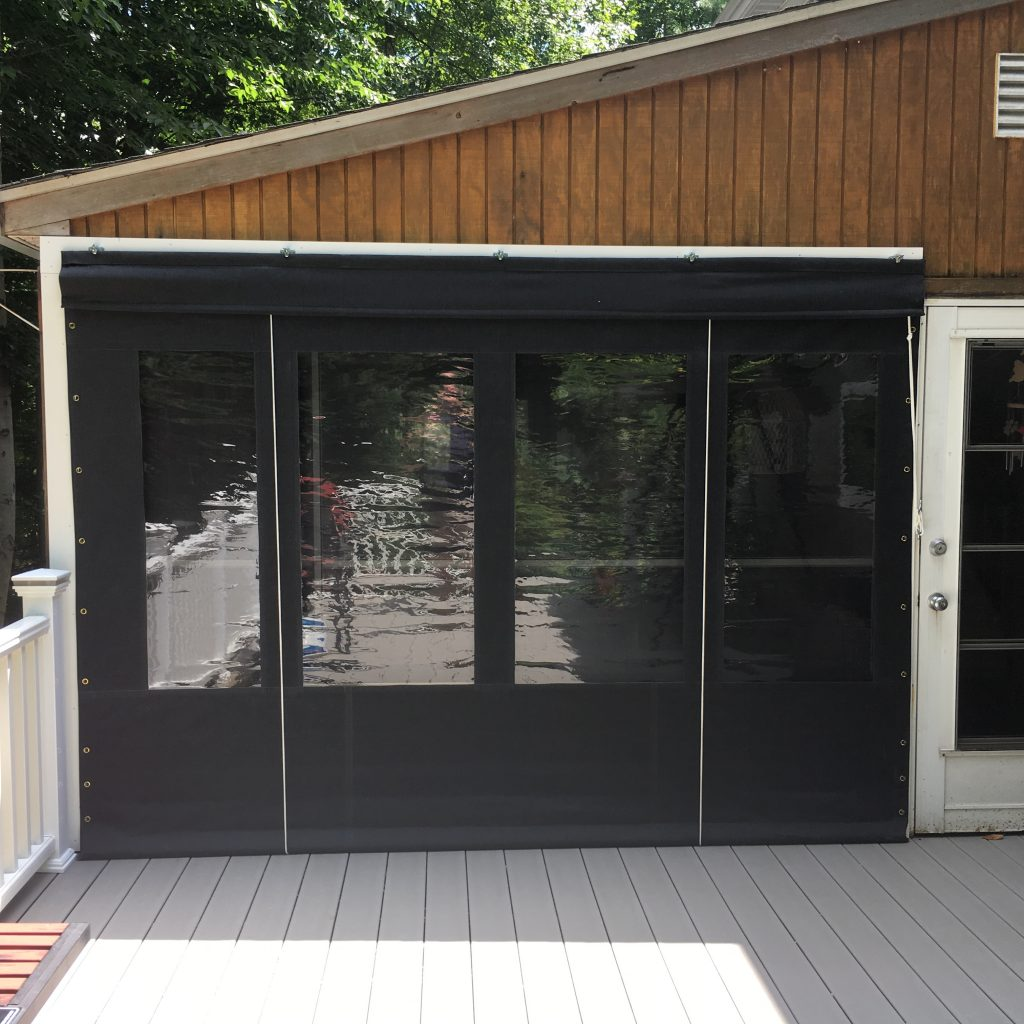 Porch Enclosure Clear Vinyl Drop Curtains Smoke