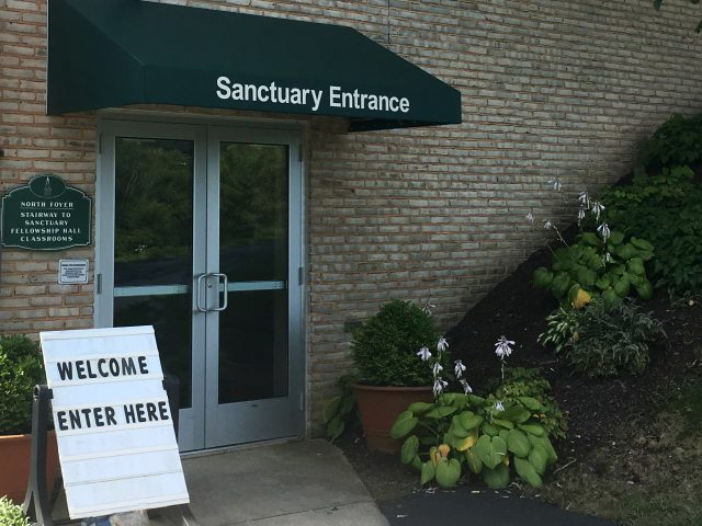 Sanctuary entrance awning