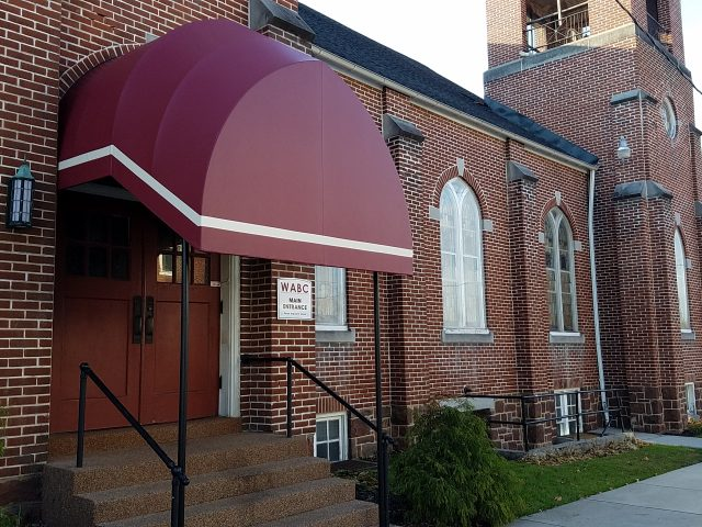 Church entrance canopy awning