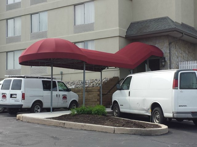 commercial hotel entrance awning