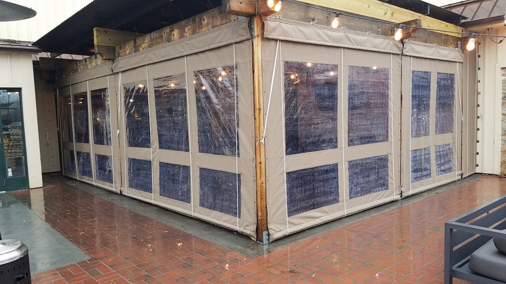 World Of Beer Clear Vinyl Drop Curtain Enclosure