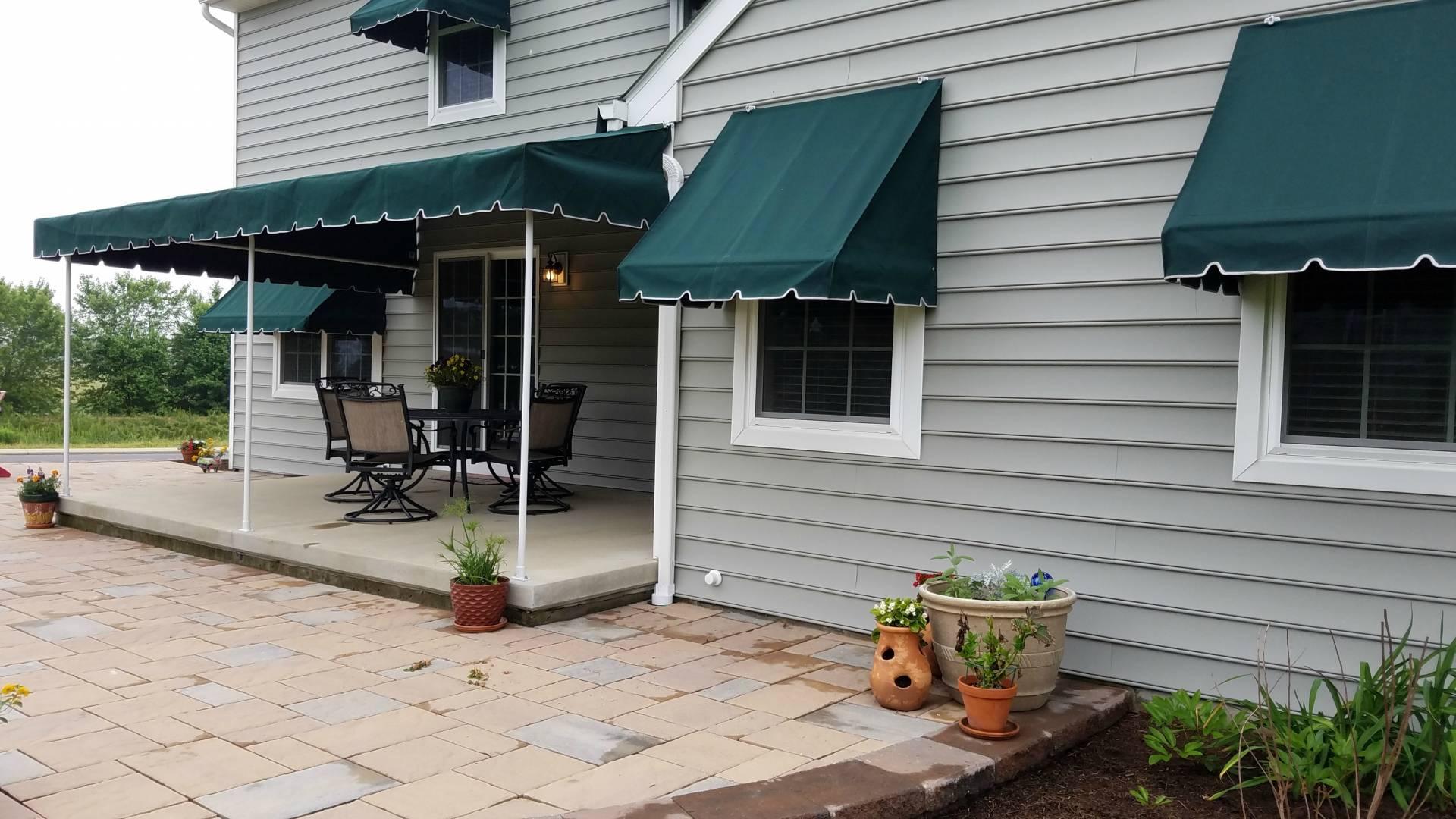 Patio Canopy With Window Awnings Sunbrella Fabric Lancaster Pa