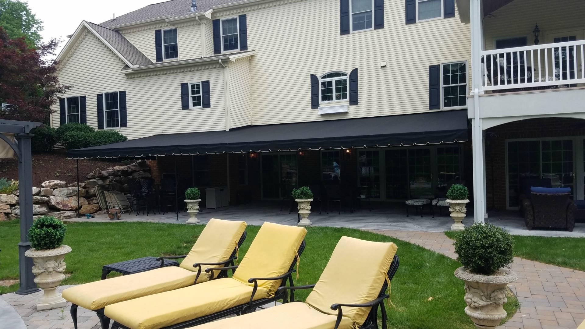 Large Patio Canopy Cover Black Sunbrella Fabric