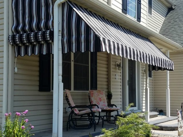 Sunbrella porch awnings provide shade privacy and keep your porch dry!