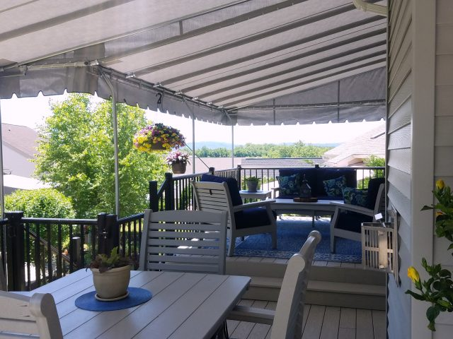 Deck awning cover in Reading PA by Kreiders Canvas of Lancaster