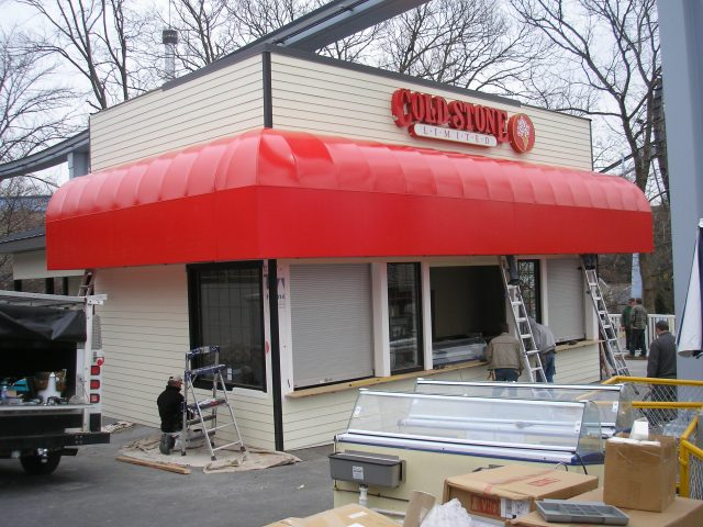 Commercial backlit awning - illuminated awning