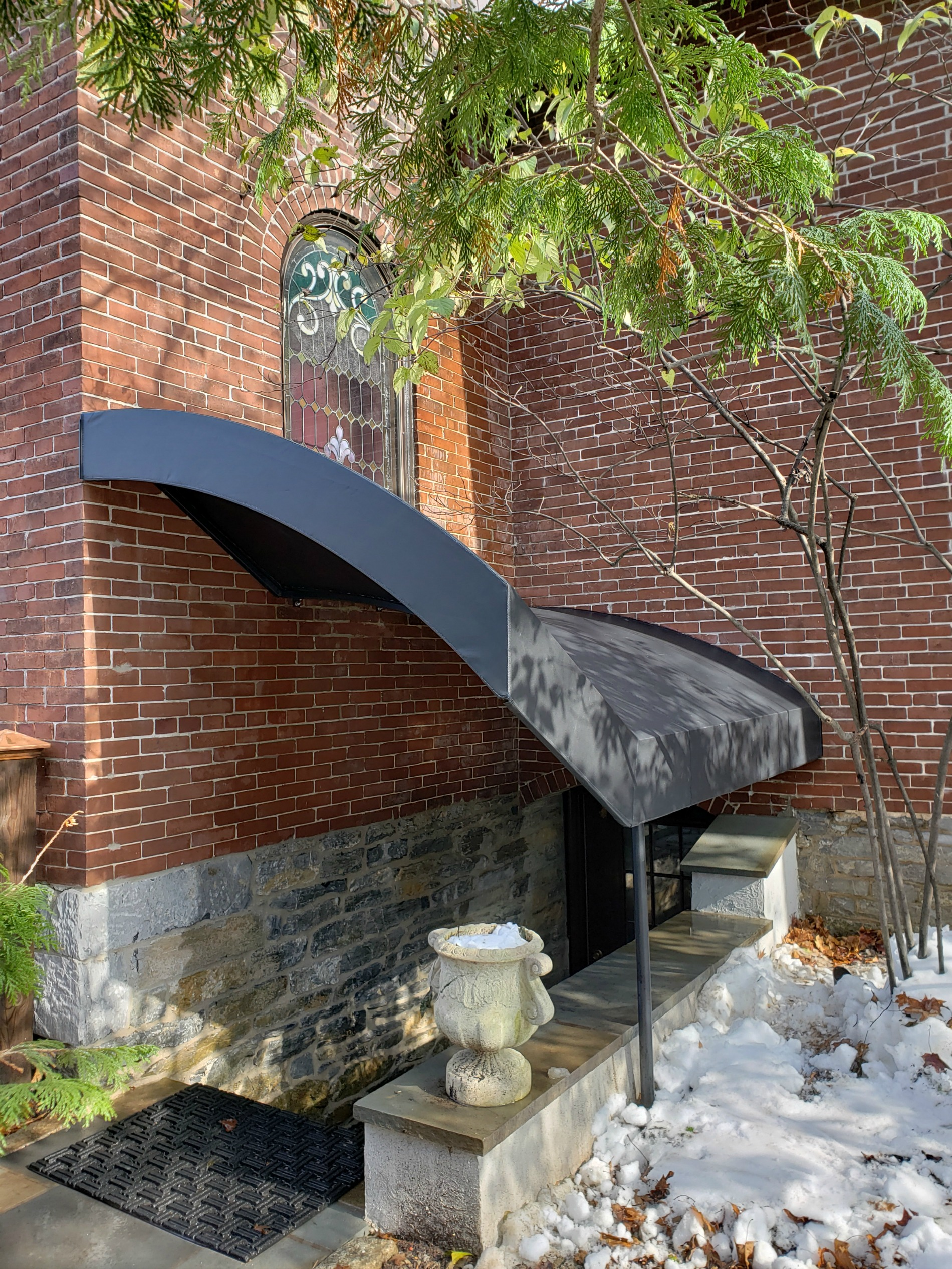 Basement Entrance Stair Canopy For A Church Kreider S