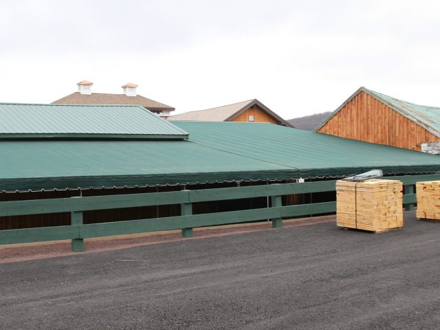 Stationary dining canopy cover over a large deck - Reading PA