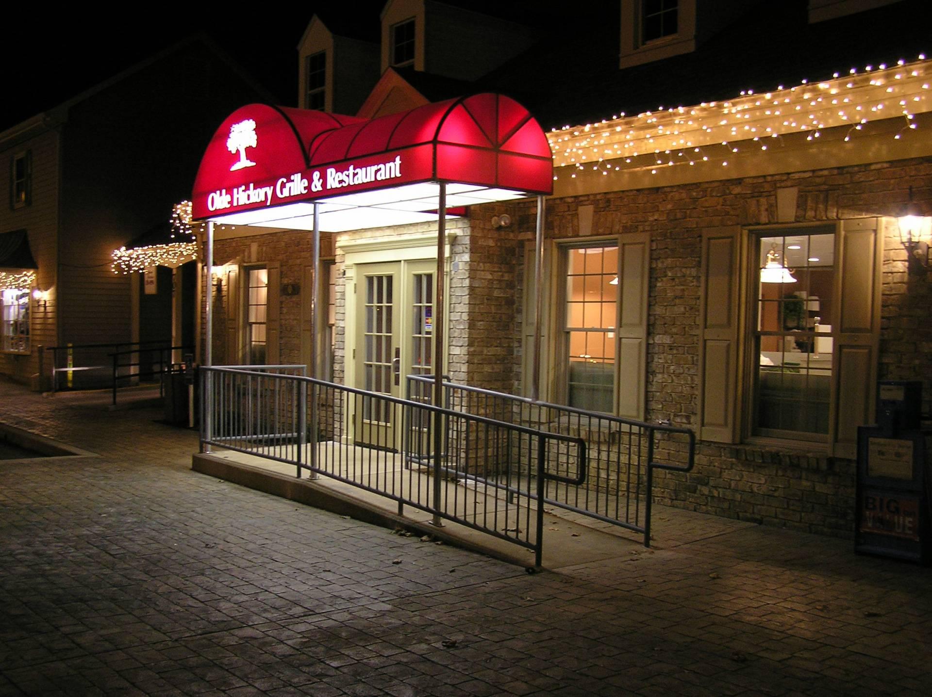 Old Hickory Grille Amp Restaurant Backlit Entrance Canopy