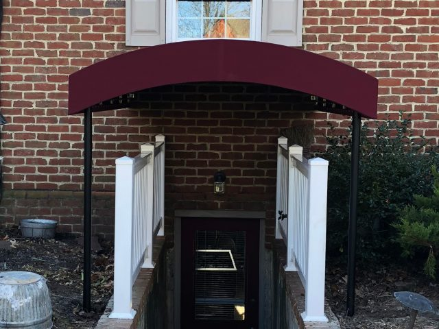 Protect your stairwell with a fixed awning canopy