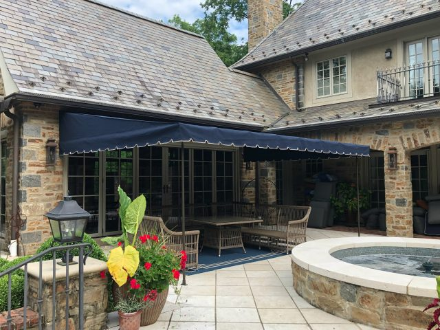 outdoor living patio deck cover sunbrella fabric stationary canopy lancaster leola pa