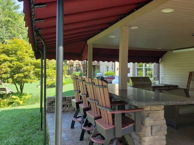 Outdoor Kitchen Bar Area Canopy Cover Kreider S Canvas