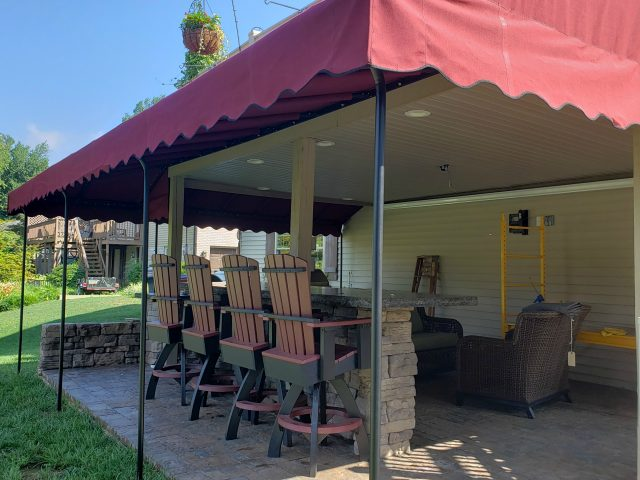 outdoor living grill awning canopy shade canvas protection sunbrella lancaster pa