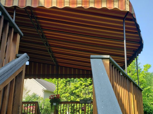 canvas fabric sunbrella awning stationary deck patio canopy cover shade lancaster lititz pa