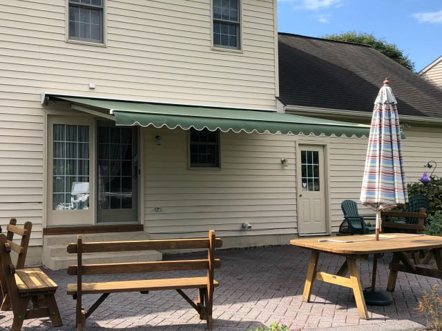 eastern retractable awning patio deck outdoor living sunbrella fabric canvas lancaster pa