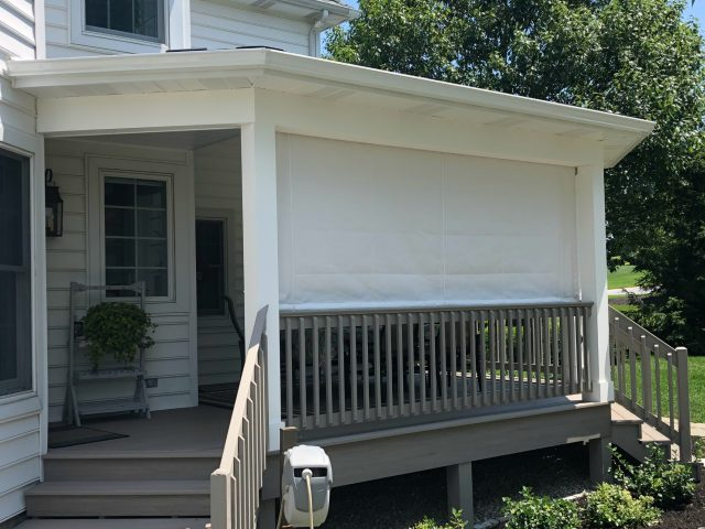 Sunbrella drop curtain canvas fabric drapes blinds curtains enclosure porch outdoor awning shade protection