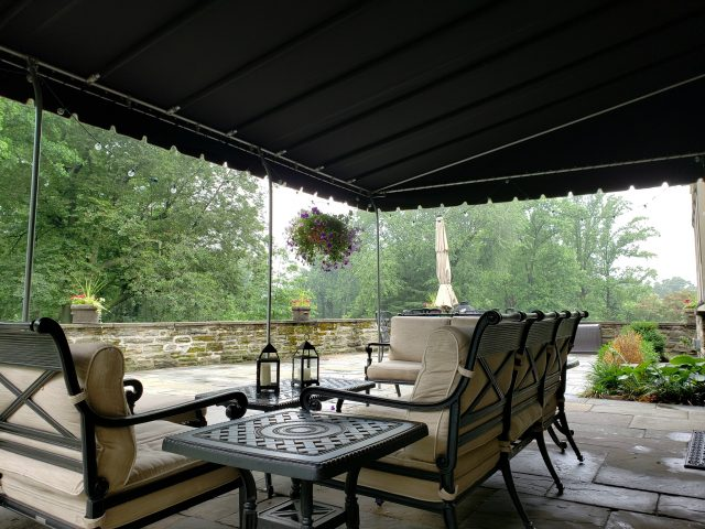 Stationary residential canopy sunbrella fabric canvas awning reading pa deck patio cover shade