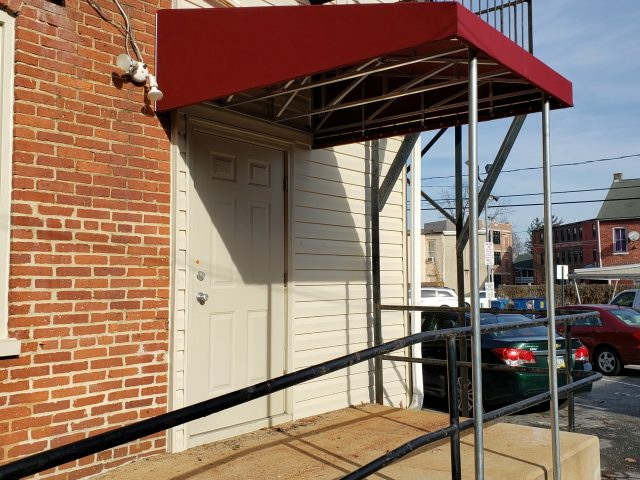 awnings canopies awning canopy cover shade recanvas outdoor living commercial entrance