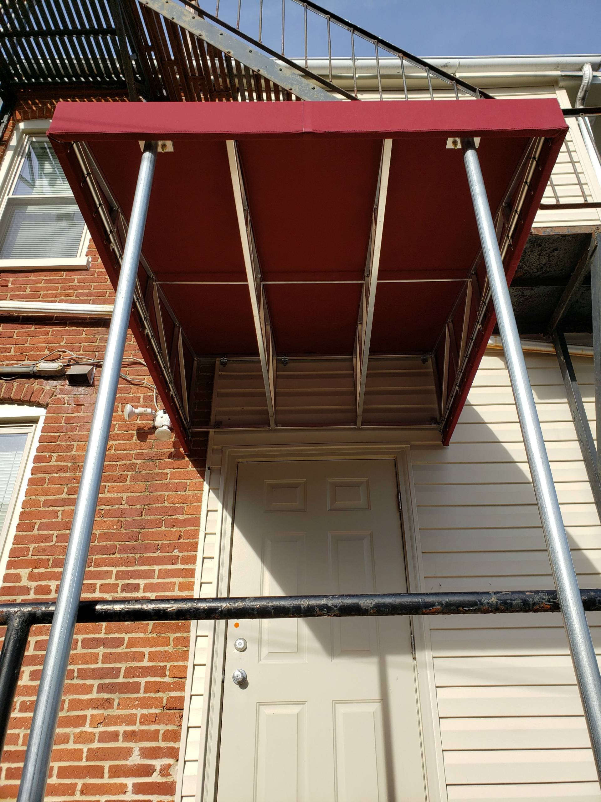 Small shed style entrance awning near Lancaster General ...