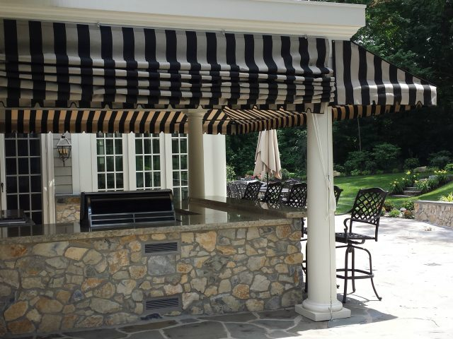 porch window deck patio awning awnings canopy canopies shade canvas fabric cover lancaster pa