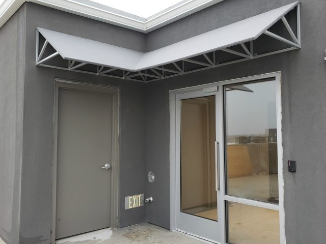 commercial entrance door awning doorhood fabric canvas sunbrella canopy