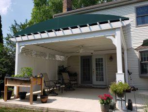 Pergola cover sunbrella fabric canvas shade outdoor living live outside Lancaster