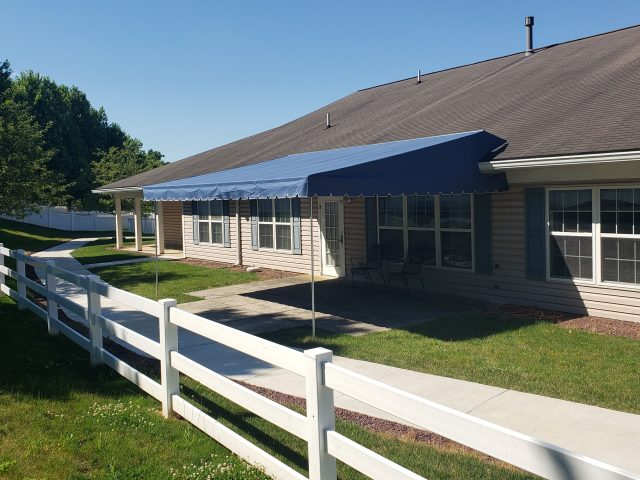 Roof mounted fixed awning - Lebanon ManorCare Health Services