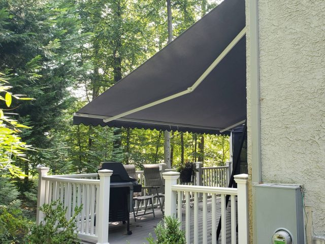 sunbrella retractable awning install eastern awning system fabric deck awning cover canopy