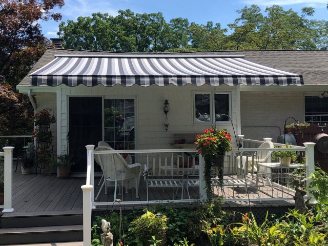 """Eastern """"Sunflex"""" retractable awning - roof mounted"""