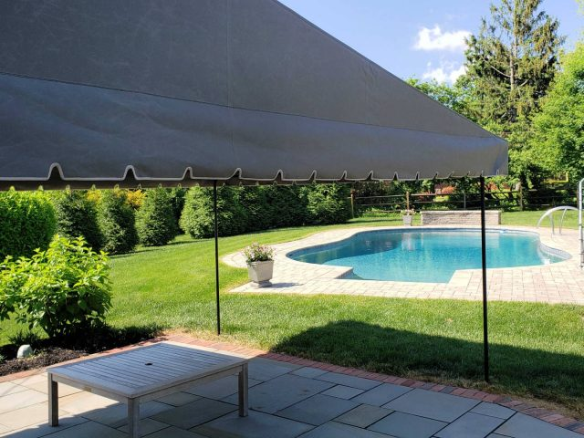 Patio stationary Canopy cover with a Roof Truss