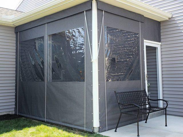 Drop Curtain Screen Porch Enclosure - sunbrella fabric awning canopy lancaster county pa