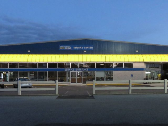 New Holland Auto group Service Center Commercial Backlit Awning